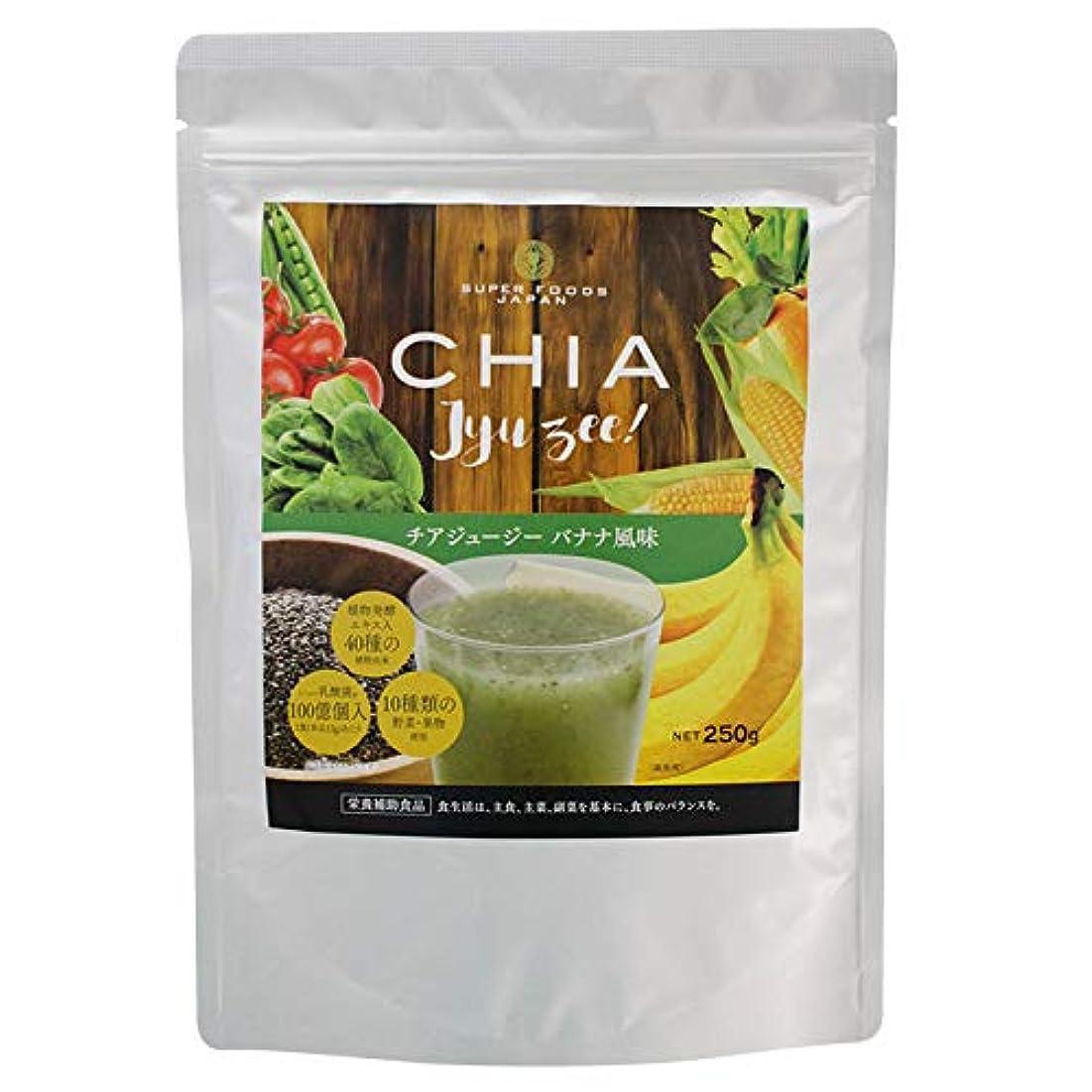 バッフル原点安息チアジュージー バナナ風味 250g ダイエット スムージー 酵素 チアシード 食物繊維 乳酸菌