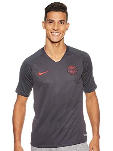 Nike PSG M Nk BRT Strk Top SS Short Sleeve, Herren M Grau/Rot (Oil Grey/Oil Grey/University red)