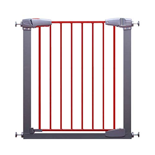 MKJYDM Puerta de Seguridad for niños Valla de Mascotas Puerta de Aislamiento Protectora Aumento de encriptación Ancho 77-83cm Valla de Juegos para niños (Size : 77-83CM)
