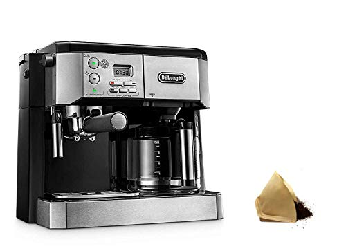 DeLonghi BCO430 Coffee Machine, Silver and Black With Filters