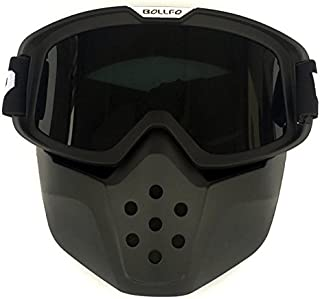 447b2f35a2 HCMAX Motocicleta Gafas de Protección Con Máscara Facial Desmontable Estilo  Harley Casco Equitación Gafas de sol