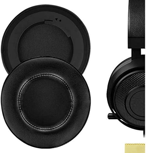 Geekria QuickFit Protein Leather Ear Pads for Raz r Kraken 7 1 Chroma V2 USB Gaming Headset product image