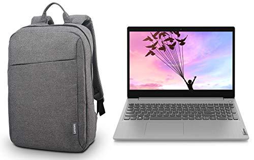 "Lenovo Ideapad Slim 3i Intel i3 10th Gen 15.6 inch FHD Thin & Light Laptop (4GB/1TB HDD/Win/Office/Platinum Grey/1.85Kg) 81WE00RCIN + Lenovo Laptop Backpack B210 15.6"" Water Repellent Grey"