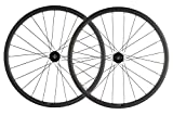SUPERTEAM Carbon Fiber Disc Brake Wheelset 700c Road Wheel 25mm Width UD Matt 30/40/45/55mm (40mm,...