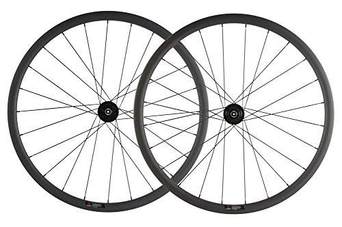 SUPERTEAM 700c Carbon Fiber Road Disc Brake Wheelset