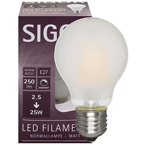 SIGOR 9019601197 - Bombilla LED (Forma AGL, Mate, E27/230 V)