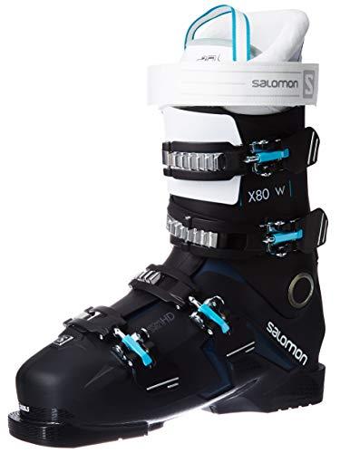 SALOMON S/Pro X80 CS Botas de esquí, Mujer, Negro/Blanco/Azul petróleo, 27
