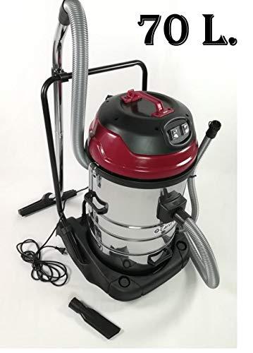 CAISER Aspiradora Wet & Dry Profesional Industrial 70L para seco y humedo 2000W