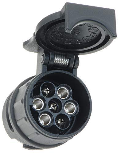 valonic Anhänger Adapter | 13 auf 7 polig | schwarz | Auto zu Hänger | Adapter für Pkw, Kfz und LKW | kurz | Anhängerkupplung, Adapterstück