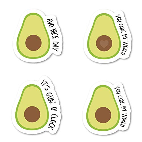 Avocado Packs Sticker Pack Avocado Stickers - 4 Pack - Sticker Vinyl Decal - Laptop, Phone, Tablet Vinyl Decal Sticker (4 Pack) S183148