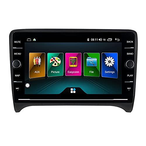 LIBINA Adecuado para Audi TT Multimedia Player, 9 Pulgadas Android 10 Car Multimedia Player, Soporte para Auto Radio USB Bluetooth Volante, 2006 2007 2008 2009 2010 2011 2012 GPS