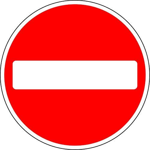"""Verkehrsschild """"Durchfahrt verboten"""", 3 mm dickes Aluminiumschild mit 2 Streifenkanälen auf der Rückseite zur Befestigung an einem Pfosten, 600 mm x 600 mm"""