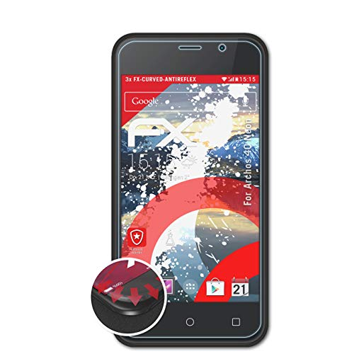 atFolix Schutzfolie kompatibel mit Archos 40 Neon Folie, entspiegelnde & Flexible FX Bildschirmschutzfolie (3X)