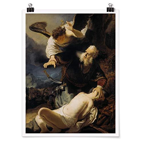 Bilderwelten Poster - Rembrandt Van Rijn - The Sacrifice of Isaac, Impresión Mate 40 x 30cm