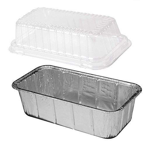 Handi-Foil 2 lb. Disposable Aluminum Foil Loaf Bread Pan w/High Dome Lid (Pack of 25 Sets)