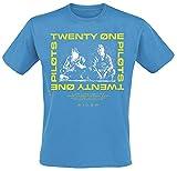 Twenty One Pilots Sit Block Holiday Hombre Camiseta Azul XXL, 100% algodón, Regular