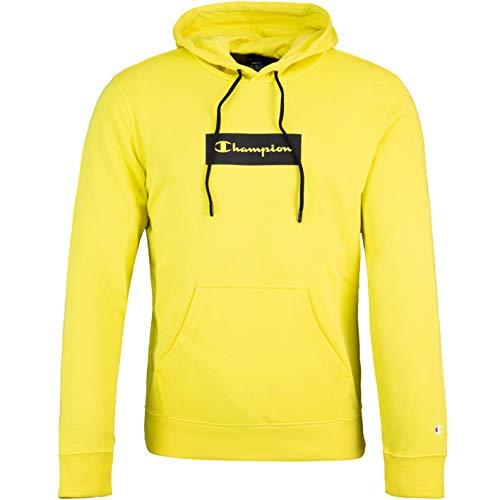Champion Sudadera con capucha con logotipo americano. amarillo S