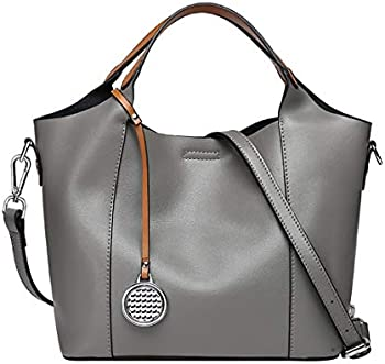 Heshe 2-in-1 Leather Womens Shoulder Hand Bag