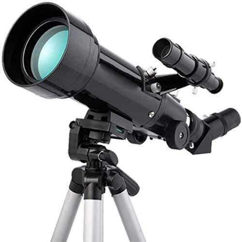 SMLCTY Teleskope Astronomische Refraktion 70 mm HD-Voll Imaging Genauigkeit Beschichtetes Glas optische Objektiv-Stativ im Freien Spielraum-Speicher for Anfänger High-Definition