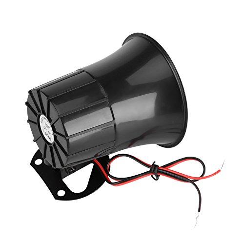 Wilecolly Bocina de Alarma, DC12V 15W Alarma con Cable Bocina de Sonido Fuerte con Soporte para Sistema de Seguridad en el hogar para Uso en automóviles, Camiones u Otros vehículos,