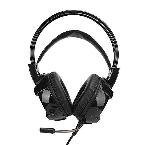 Vbestlife1 Casque de Jeu, écouteur à Réduction de Bruit avec Microphone Lumière RVB, Casque de Jeu pour Contrôleur PS4