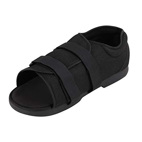 Zapatillas de cirugía para Hombre, con Puntera Abierta, con ortopédicas, Ajustables, Color Negro, Talla 44/46 EU
