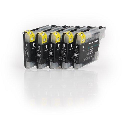 5x schwarz Patronen kompatibel zu Brother LC985BK für Brother DCP-J125 DCP-J140W DCP-J315 DCP-J315W DCP-J515W MFC-J220 MFC-J265W MFC-J270W MFC-J280W MFC-J410 MFC-J415W