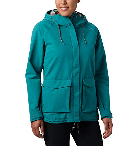 Columbia South Canyon Chaqueta Impermeable, Mujer, Verde (Waterfall), XS
