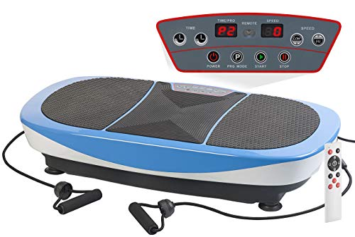 Newgen Medicals Vibrationstrainer: Vibrationsplatte mit vertikaler & horizontaler Schwingung, bis 150 kg (Vibroplatte)