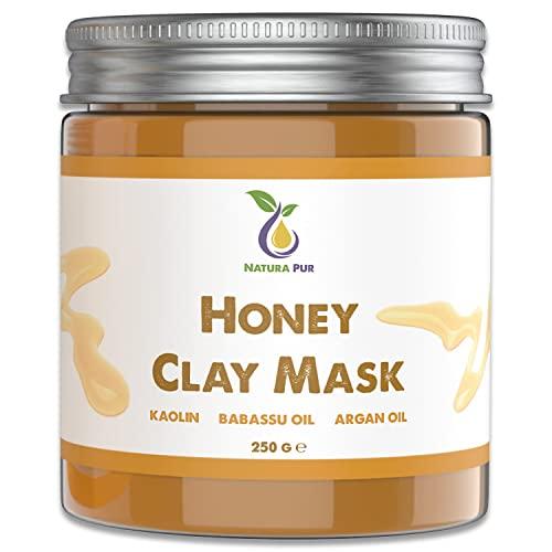Honig Gesichtsmaske 250g - NATURKOSMETIK Anti Pickel, Mitesser Maske und gegen Akne - Anti-Aging Pflege für trockene und unreine Haut - Reinigungsmaske für Gesicht und Körper