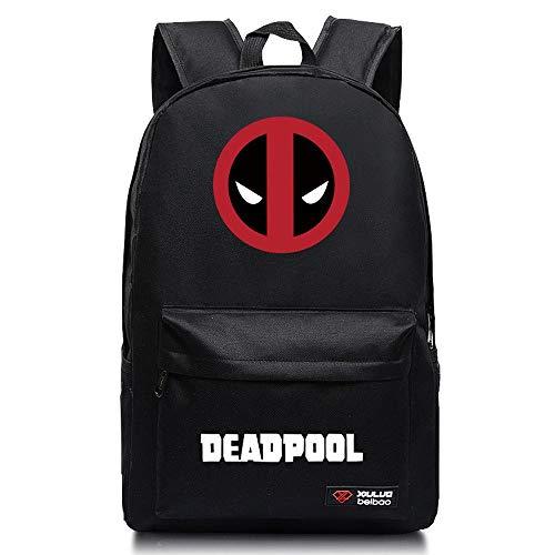 Wildpack Rucksack Deadpool Schoolbags Fashion Casual Bag Black-A