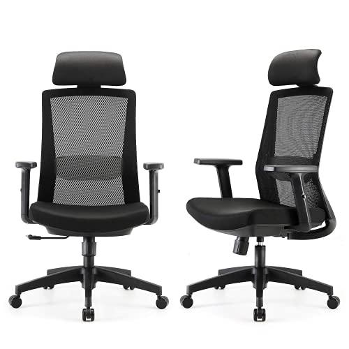 SIHOO Ergonomic Home Office Chair, Swivel Desk Chair with Adjustable Lumbar...