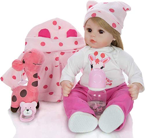 Muñecas Reborn de Silicona de 18 Pulgadas para niños, Regalo de cumpleaños, muñecas Reborn, niña de Pelo Largo para niña