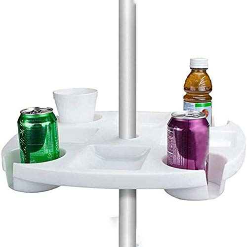 Sonnenschirm Tisch Tablett,mit Geträ Snack Cups für Garten Schwimmbad Sonnenschirm Tisch Halter Regenschirm Bier Getränkehalter,1