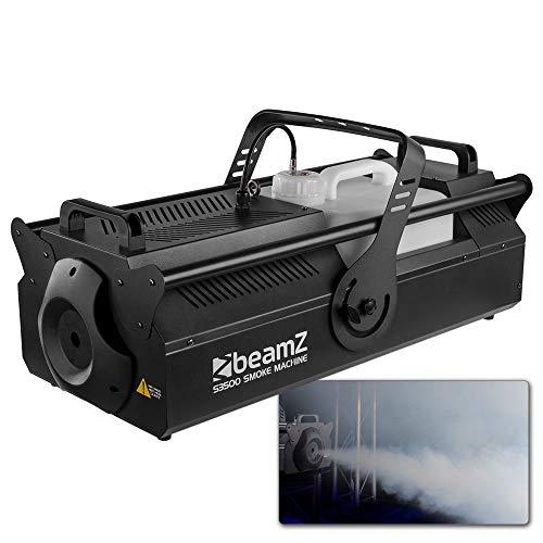 beamZ S3500 Nebelmaschine - 3.500 Watt, DMX-Steuerung, Kontrollfläche mit LCD-Display, Ausstoßvolumen: 1.217 m³ pro Minute, Tankvolumen: 10 Liter, Nachheizzeit: 90 Sekunden, schwarz