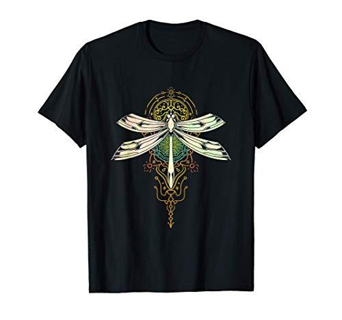 Dragonfly Idea Regalo Insetto Bellissimo Yoga Libellula Maglietta