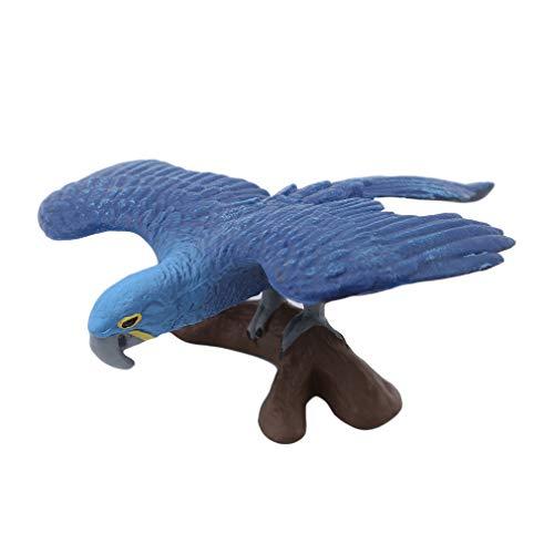 Hengxing Tier Dekorative Figuren Simulation Mini Niedlichen Papagei Vogel Figuren Tier Modell Spielzeug Für Wohnkultur, Verbreitung Blau Papagei, 707