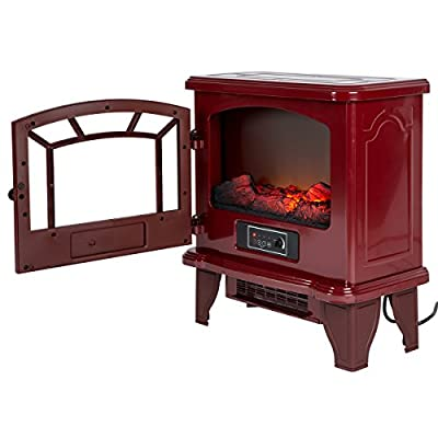 Duraflame Electric Freestanding Infrared Quartz Fireplace Stove, Red