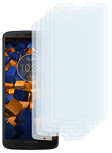 mumbi Schutzfolie kompatibel mit Motorola Moto G6 Plus Folie klar, Bildschirmschutzfolie (6X)