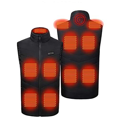 ZEZKT Chaleco Calefactable para Hombre Terapia de Masajes Chaqueta cálida USB de...