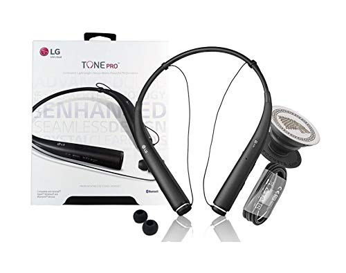 LG Tone Pro HBS-780 Black Bluetooth Wireless Stereo Headset with Phone Griper Stand (Retail Packing)