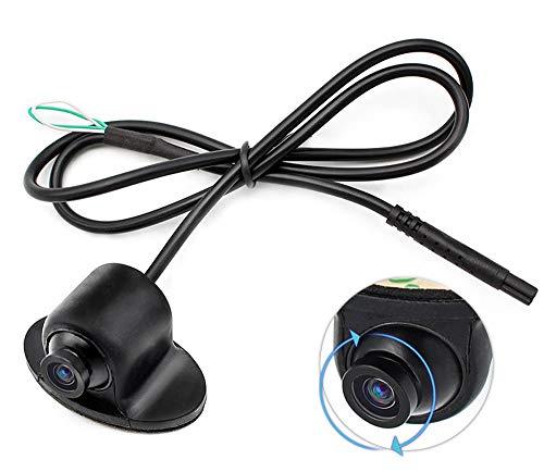 YMPA RFK-Eye Rückfahrkamera ohne Bohren kleben drehbar 360 Grad Farbe Einbau Spiegelung EIN und ausschalten Hilfslinien Distanzlinien vorne hinten Seite für Monitor und Rückfahrsystem 170 180