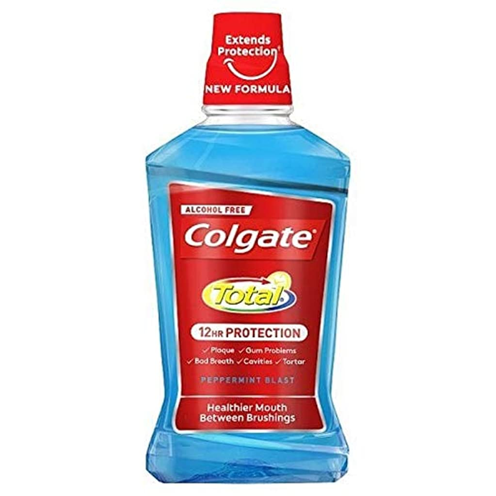 粘性の子供っぽいくるくる[Colgate ] コルゲートトータルペパーミントブラストマウスウォッシュ500ミリリットル - Colgate Total Peppermint Blast Mouthwash 500ml [並行輸入品]