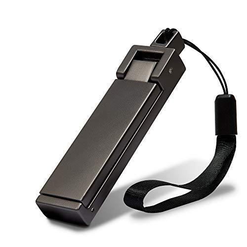 achilles Bag-Buddy Metall Taschen-Halter, Handy-Halter, Phone-Halter, Rucksack-Aufhänger, Handtaschen-Haken, für den Tisch, Hook, Hanger, Zusammenklappbar, 8,5x2x1 cm, schwarz