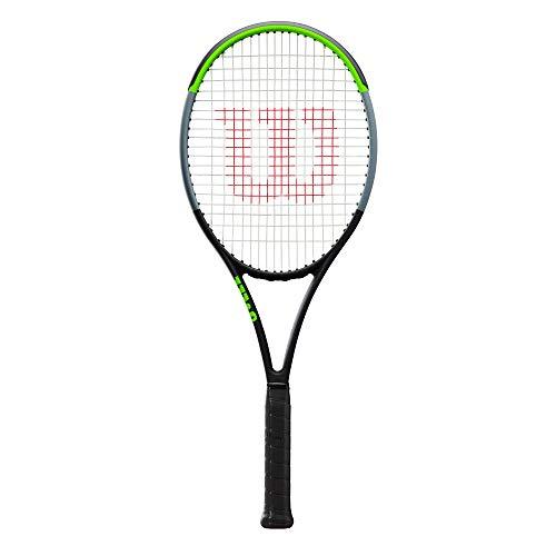 Wilson Tennisschläger, Blade 100UL V7.0, Unisex, Erwachsene, Griffgröße: 4 3/4, Graphit, schwarz/grau/lime, WR014110U3