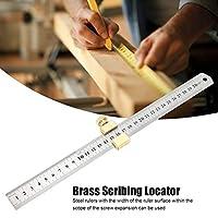 定規溝デザイン スチール定規位置決めブロック 木工 スクライブと測定のための測定ツール
