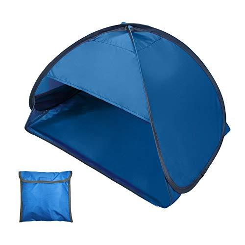 Portátil mini praia sol sombra dossel abrigo de barraca de praia ao ar livre imediata com maleta