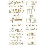 TODO STENCIL Deco Texto 052 Frases Positivas, Medidas: Stencil 20 x 30 cm - Diseño 17,6 x 27 cm