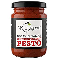 Vegan, Organic and Delicious! Made up of 37% sun-dried tomato for a rich, authentic taste Dairy Free 2 servings as a sauce, but many more as a spread!