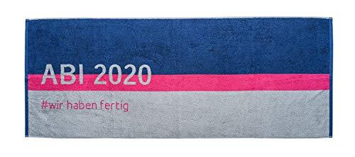 List Textil Strandtuch ABI 2020, rosa blau grau, 70x180cm, Walkfrottier 480g/qm, 100% Baumwolle
